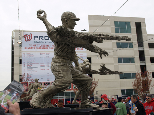walter johnson statue