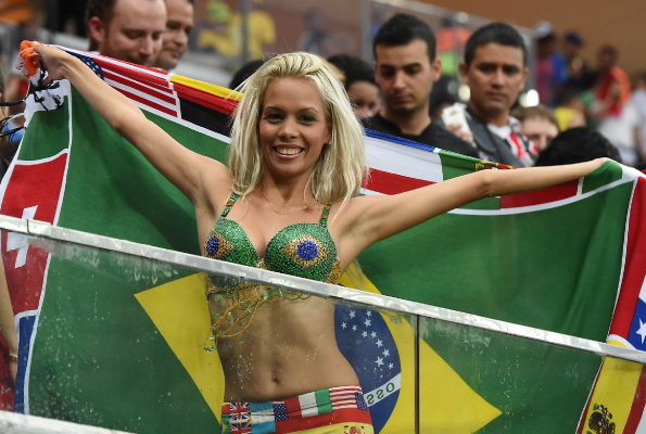 Brazil Football Body Paint